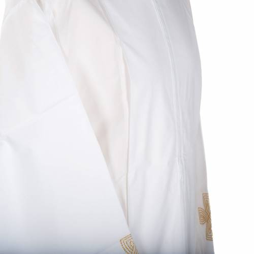 White alb wool gold cross s3