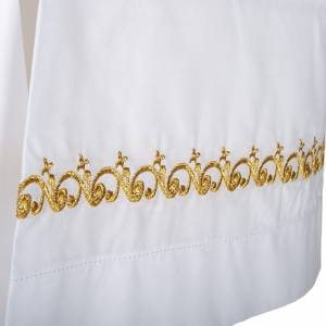 White alb wool gold embroidery s2