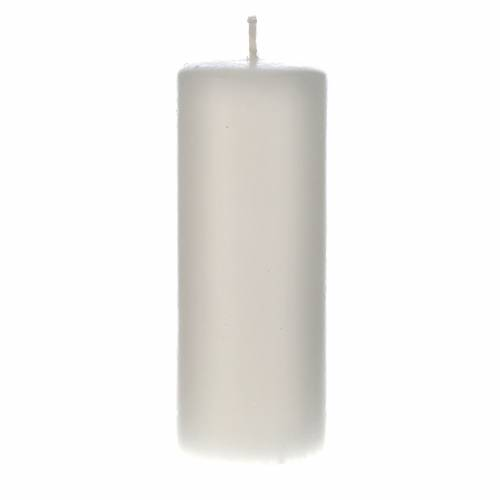 White candle 130x50mm (pack) s1