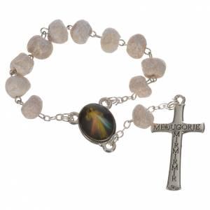 Single decade rosaries: White stone Medjugorje decade rosary