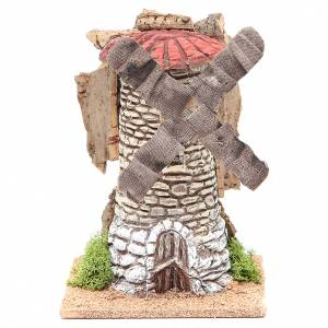 Watermills and windmills: Wind mill for nativities in terracotta measuring 20x13x13cm