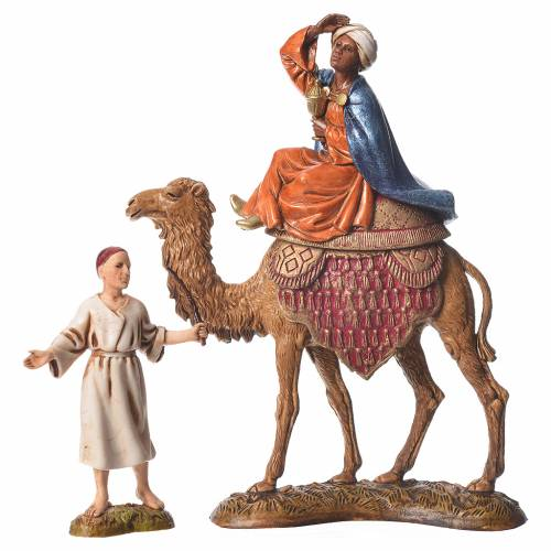 Wise men and camels nativity figurines 6 pieces, 10cm Moranduzzo s4