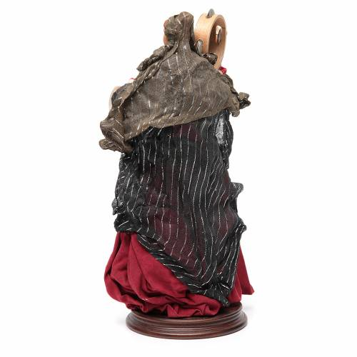 Woman with tamburine for Neapolitan Nativity 30cm s3