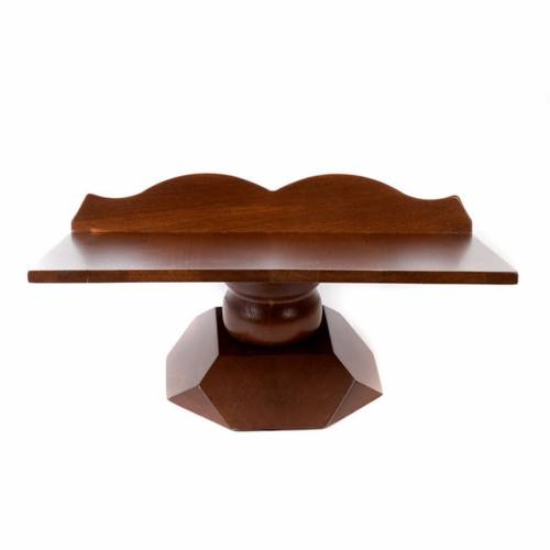 Wood book-stand- fixed and rotating s7