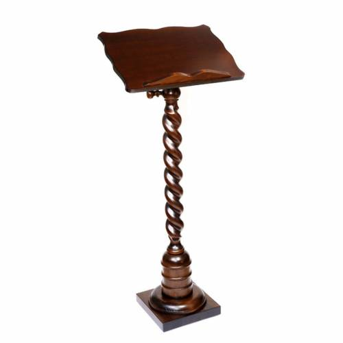 Wood lectern with torchon pedestal s1