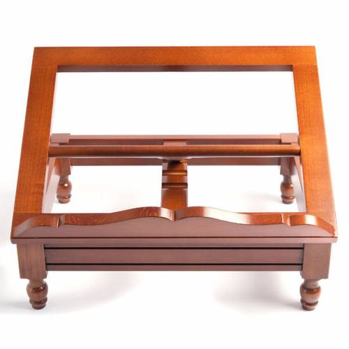Wooden book-stand with flutings s1