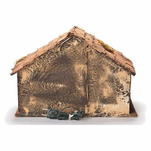 Wooden cabin with mirror, Neapolitan Nativity 45x56x45cm s4