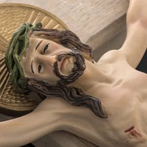 Wooden crucifix 40cm with Body in resin s4