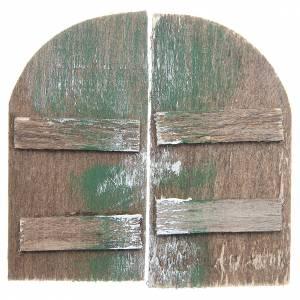 Balustrade, doors, railings: Wooden door for DIY nativities, arch shaped 8.5x4.5, set of 2