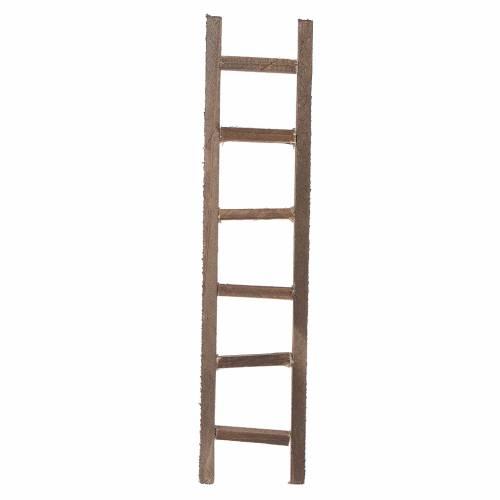 Wooden ladder, nativity accessory 22x4.5cm s1