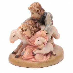 Young shepherds figurine, Val Gardena Model 12cm s2