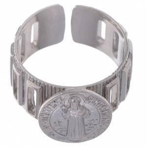 Gebetsringe: Zehner Ring Hl. Benedikt Silber 800