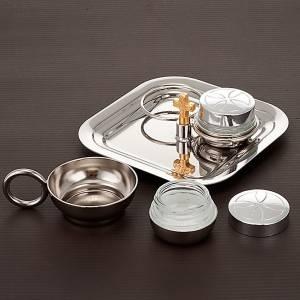 Oleje święte i akcesoria do chrztu: Zestaw naczyń do chrztu srebrny