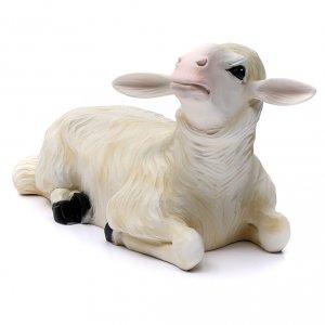 2 ovejas para Belén 80 cm de mármol sintético pintado s4