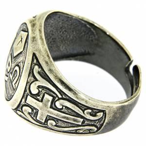 Anello simbolo Pax Argento 925 anticato s4