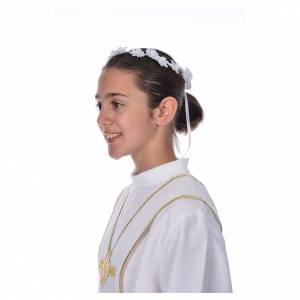 Aubes communion, profession de foi: Accessoire aube communion: couronne florale