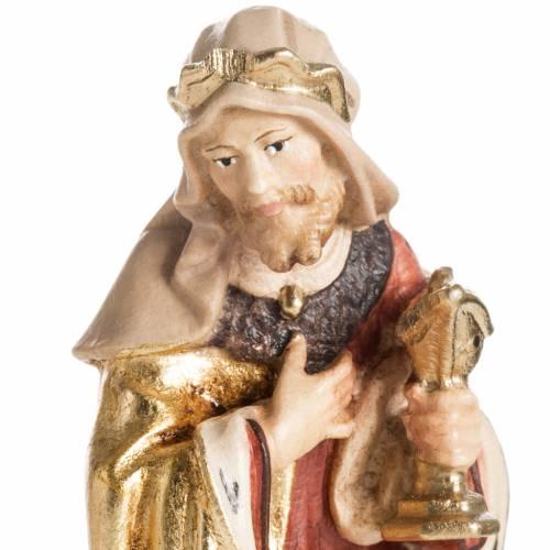 Adoration des Mages bois peint Val Gardena s3