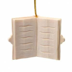 Adorno navidad libro de madera para colgar s1