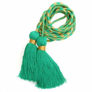 Albs: Alb cincture, green and gold color
