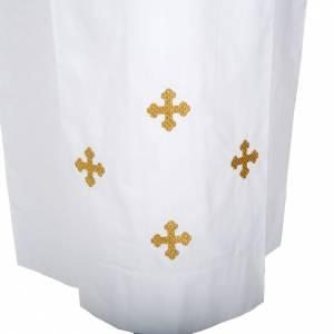 Alben: Albe dekorierte Kreuze, aus Wolle