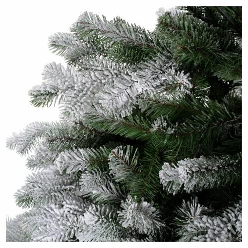 Albero di Natale 180 cm Poly floccato glitter Sheffield 4