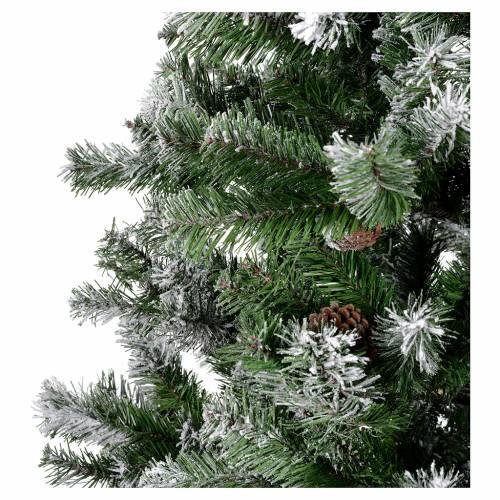 Albero di Natale 210 cm floccato pigne Oslo s3