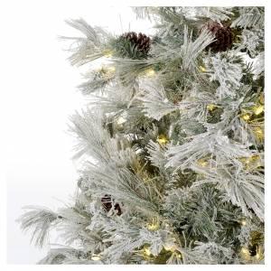 Albero di Natale 230 cm brinato pigne e brillantini 450 luci led s3