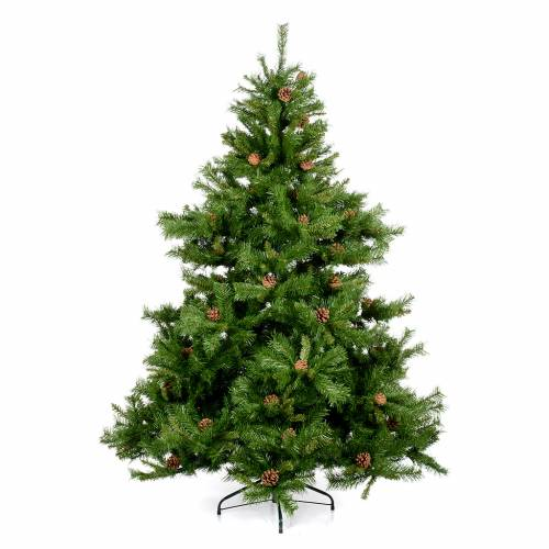 Albero di Natale verde pigne 210 cm Praga s1