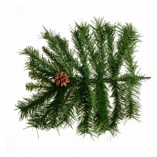 Albero di Natale verde pigne 210 cm Praga s4
