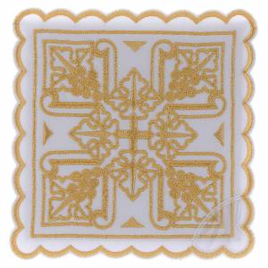 Altar linens: Altar linen four golden grapes & cross, cotton