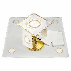 Altar linens: Altar linen host and white embroidery JHS