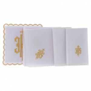 Altar linen JHS symbol golden embroided, cotton s2