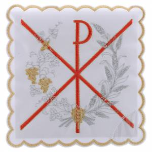 Altar linens: Altar linen PAX symbol red embroidery, cotton