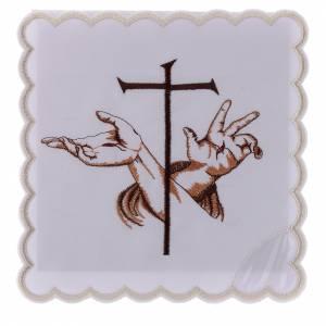 Altar linens: Altar linen Stigmata hands of Jesus & Cross, cotton