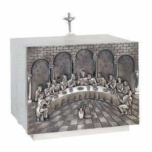 Altar Tabernacle with the last supper in brass, Molina s1