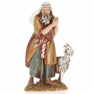 Krippenfiguren: Alter Hirte mit Ziege 10cm Moranduzzo
