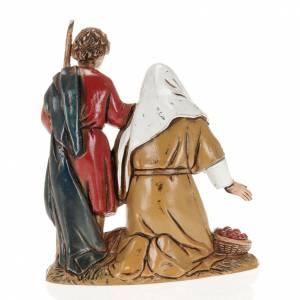 Krippenfiguren: Alter Mann mit Kind 10cm Moranduzzo