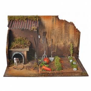 Casas, ambientaciones y tiendas: Ambientación huerto con perro 33x18x20 cm.