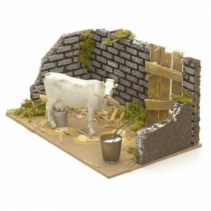 Ambiente pesebre con vaca 15x20x12 s2