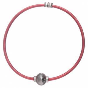 AMEN bracelets: AMEN 925 sterling silver bracelet with a red zirconate thermoplastic heart