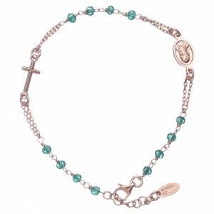 AMEN bracelets: AMEN 925 sterling silver bracelet with green crystals