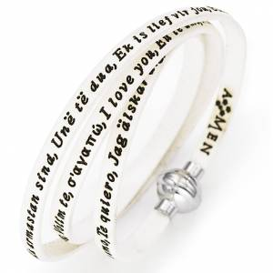 Amen bracelet I love you, white s1