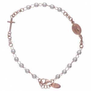AMEN bracelets: AMEN rosè 925 sterling silver rosary bracelet