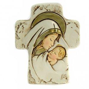 Bonbonniere: Andenken Geburt Tischkreuz 8,5x7cm