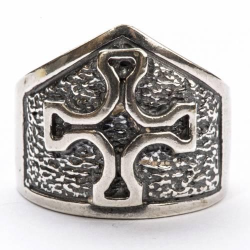 Anello vescovile croce argento 800 s3