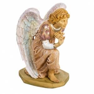 Ange à genoux rose crèche Fontanini 65 cm s1