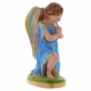Statues en plâtre: Ange bleu clair en prière 25 cm plâtre