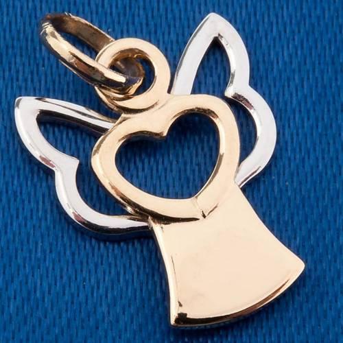 Angel 750/00 gold pendant stylized - 1,40 gr s3