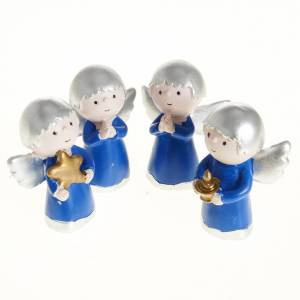 Angels of friendship in resin, 4 pieces s1