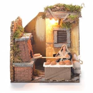 Animated baker 10cm Neapolitan Nativity s1